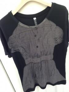 リトルドレスTシャツ黒アップ