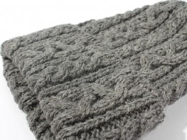 帽子通販専門店shappo online HIGHLAND2000(ハイランド2000)British Wool Cable Bob Cap ニットワッチ 素材アップ
