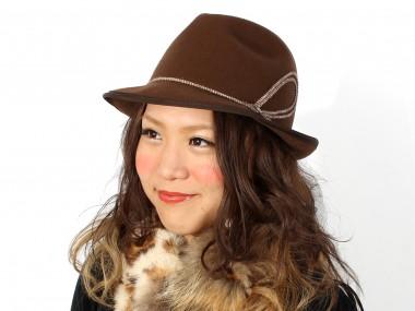 帽子通販専門店shappo online  RAKUDA HAT(ラクダハット)コードモチーフハット ハット 着用