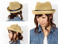 帽子通販専門店shappo online Casselini(キャセリーニ) 耳付きペーパーHAT ハット  サムネイル