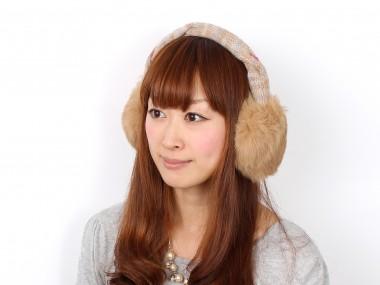 帽子通販専門店shappo online  CASSELINI(キャセリーニ)ミックスニットクロスイヤマフ イヤマフ
