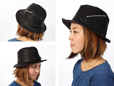 帽子通販専門店shappo online  D,ari(ダリ) レザーハットストラマー ハット トップ