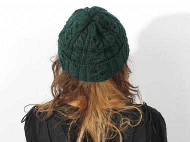 帽子通販専門店shappo online HIGHLAND2000(ハイランド2000)British Wool Cable Bob Cap ニットワッチ 着用2