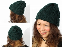 帽子通販専門店shappo online HIGHLAND2000(ハイランド2000)British Wool Cable Bob Cap ニットワッチ