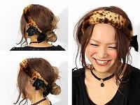 帽子通販専門店shappo online バラ色の帽子(baraironoboushi)ファーヘアバンド ヘアバンド サムネイル