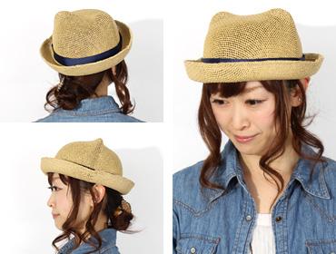 帽子通販専門店shappo online Casselini(キャセリーニ) 耳付きペーパーHAT ハット トップ