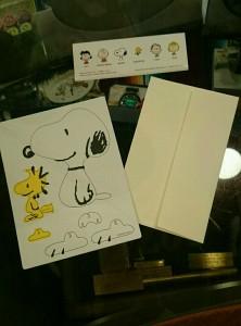 広島 ピーナッツ スヌーピー スタンディング メッセージカード 雑貨