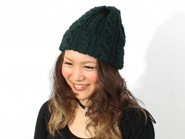 帽子通販専門店shappo online HIGHLAND2000(ハイランド2000)British Wool Cable Bob Cap ニットワッチ 着用