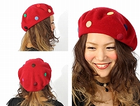 帽子通販専門店shappo online  バラ色の帽子 マーブルベレー ベレー リンク