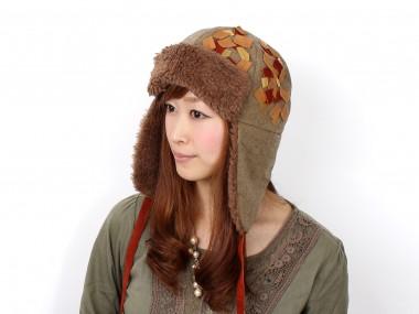 帽子通販専門店shappo online  CA4LA(カシラ)地球飛行 飛行帽 着用2