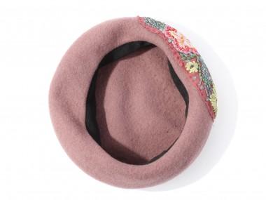 帽子通販専門店shappo online  CA4LA(カシラ)平面の花の変化 ベレー 内側