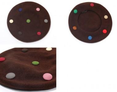 帽子通販専門店shappo online  バラ色の帽子 マーブルベレー ベレー  ディティール