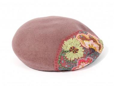 帽子通販専門店shappo online  CA4LA(カシラ)平面の花の変化 ベレー トップ