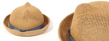 帽子通販専門店shappo online Casselini(キャセリーニ) 耳付きペーパーHAT ハット デティール